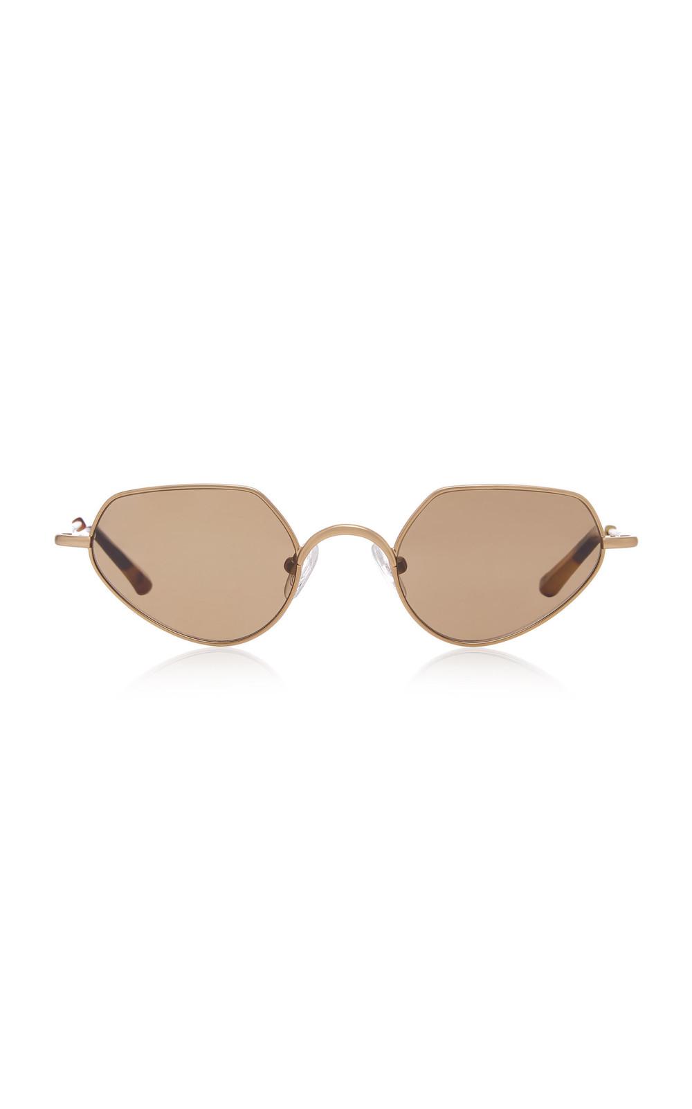 Dries Van Noten Round Stainless Steel Sunglasses in gold