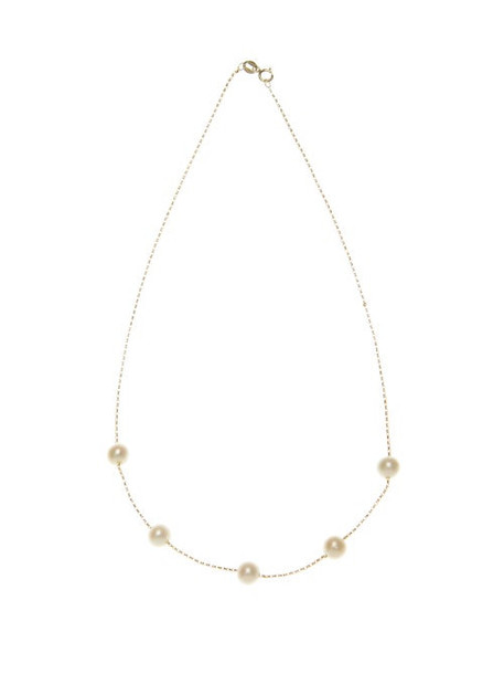 Anissa Kermiche - Frost In May Freshwater Pearl & Gold Choker - Womens - Pearl