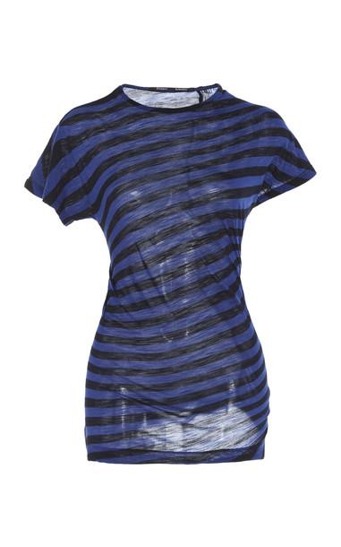 Proenza Schouler Striped Cotton-Jersey Top Size: M