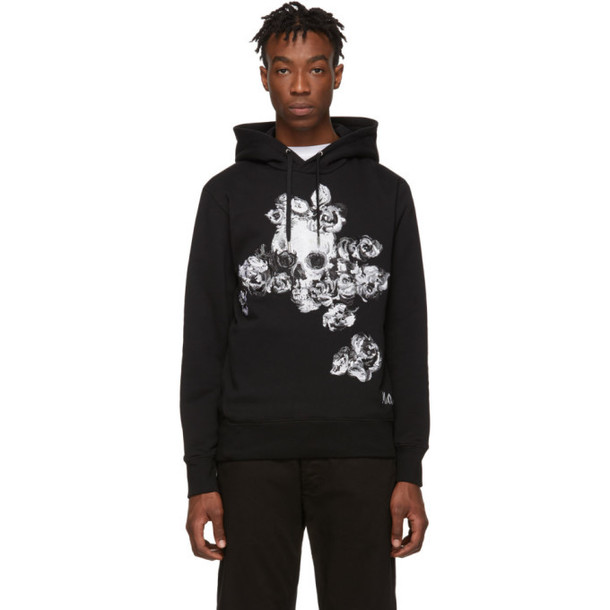 Alexander McQueen Black Embroidered Hoodie
