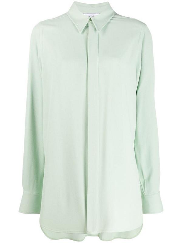 AMI Paris loose long shirt in green