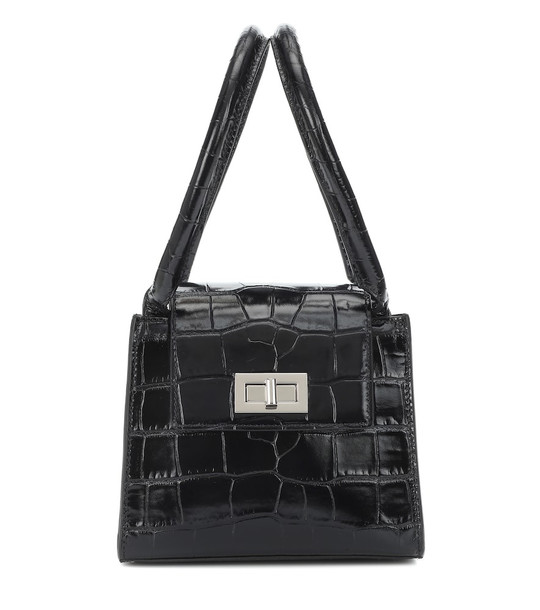 By Far Sabrina leather shoulder bag in black