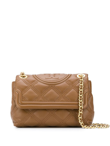 Tory Burch Fleming quilted shoulder bag in brown