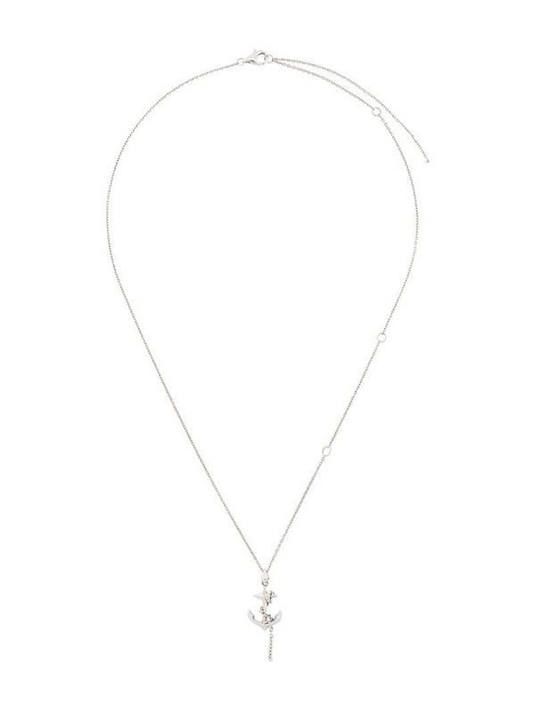 Kasun London anchor pendant necklace in metallic