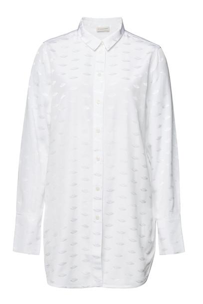 By Malene Birger Jacquard Shirt  in white