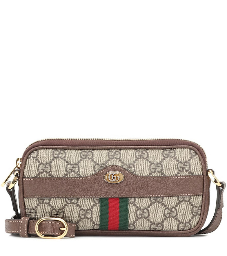 Gucci Ophidia GG Mini leather clutch in beige