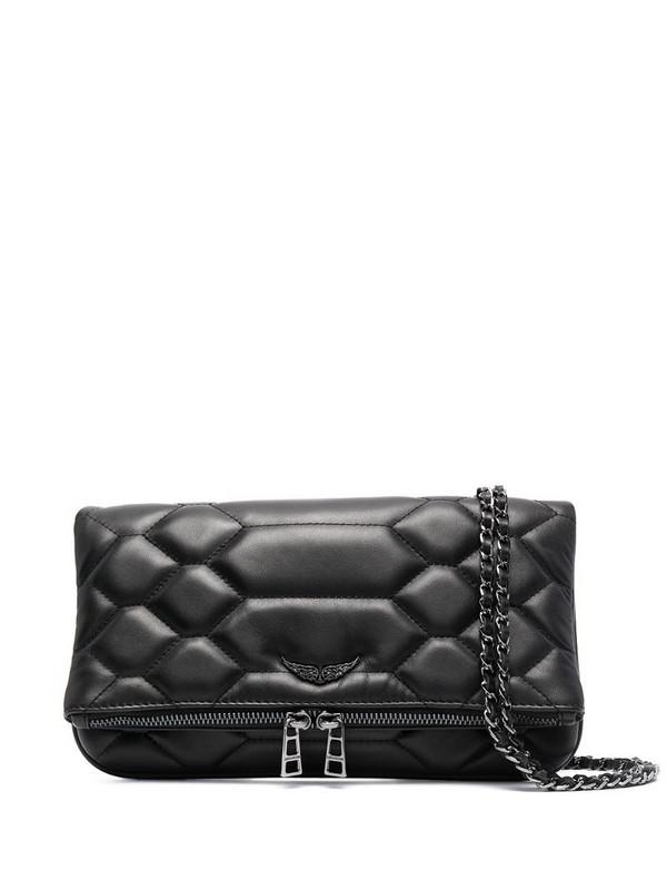 Zadig&Voltaire Rock Mat Scale clutch bag in black