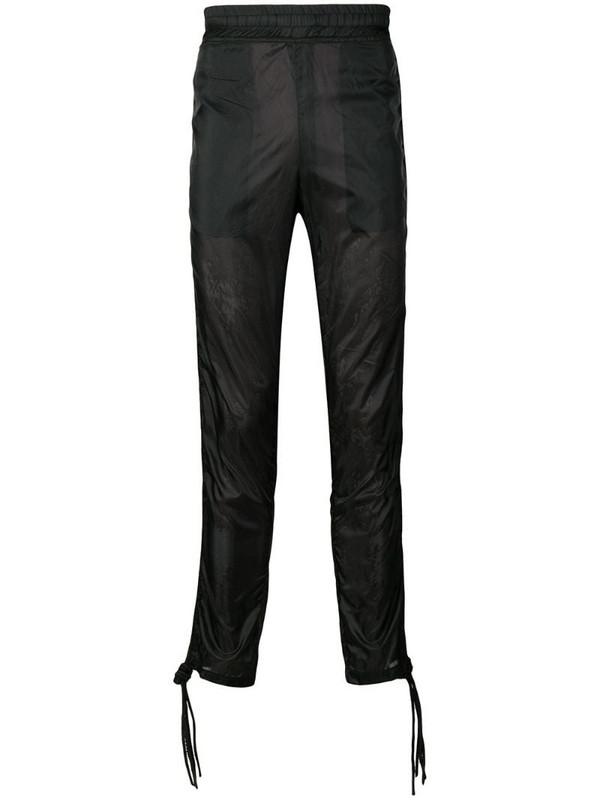 KTZ cording track pants in black