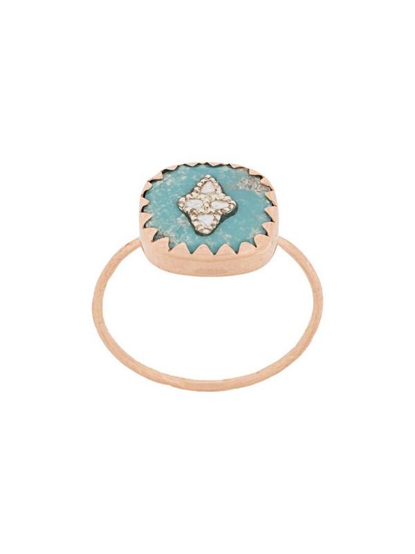 Pascale Monvoisin 9kt rose gold PIERROT TURQUOISE ring in blue