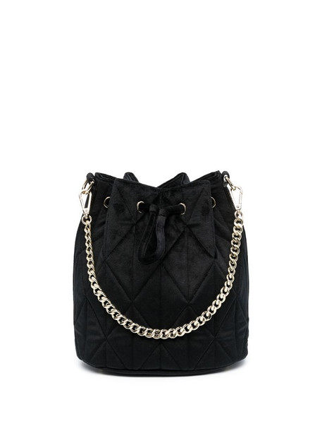 Lancaster small Actual quilted bucket bag in black