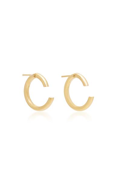 Maria Black Disrupted 22 18K Gold-Plated Hoop Earrings