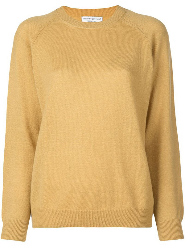 Alexandra Golovanoff classic crew neck sweater in yellow