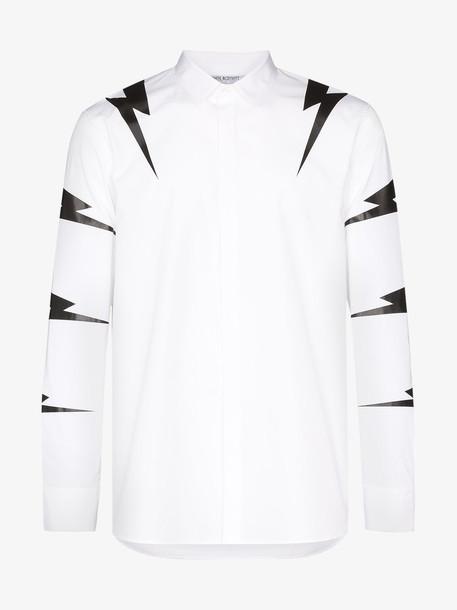 Neil Barrett Tiger bolt print shirt