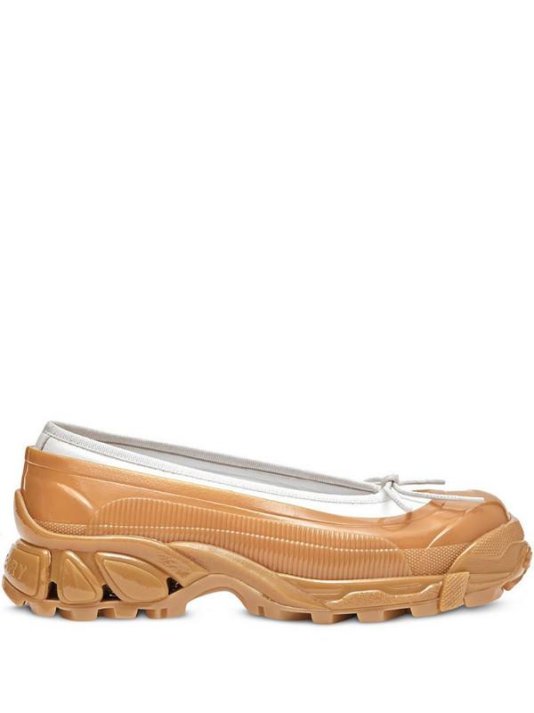 Burberry overshoe ballerina shoes in neutrals