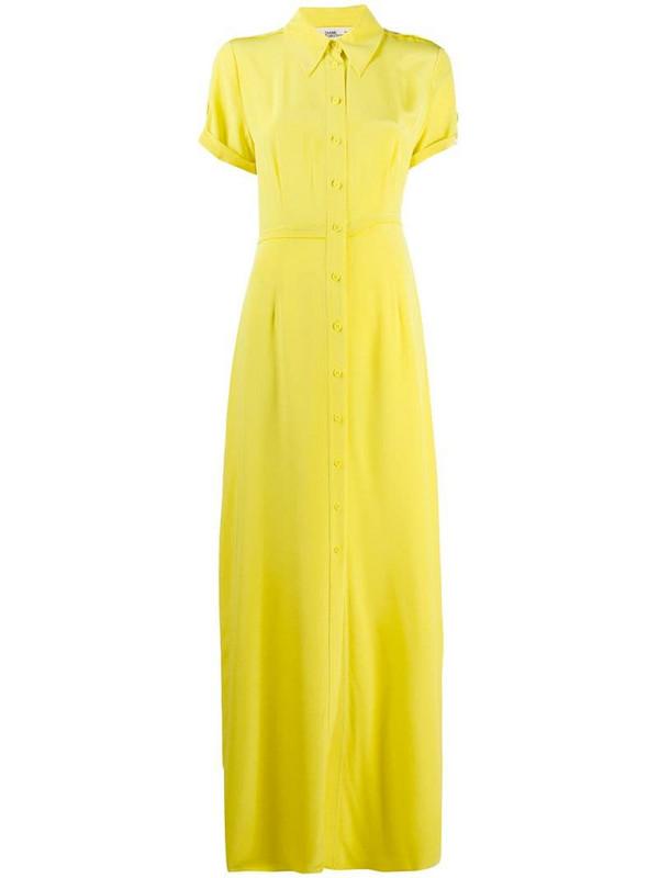 DVF Diane von Furstenberg long shirt dress in yellow