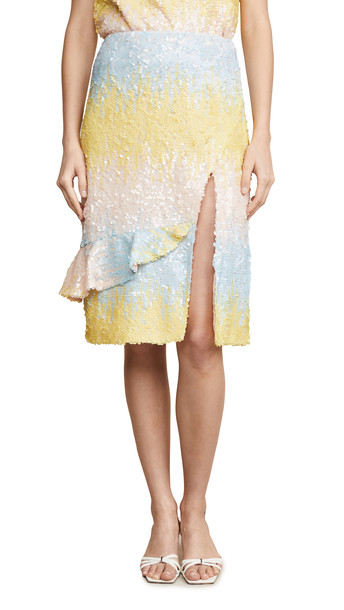 endless rose Colorblock Sequin Skirt in multi