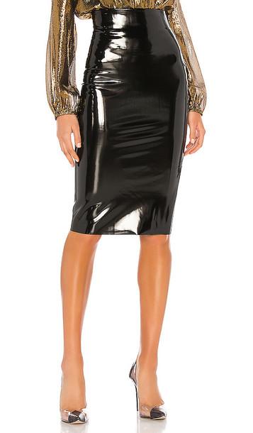 Commando Patent Midi Skirt in Black