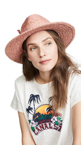 Hat Attack Tulum Rancher Hat in pink