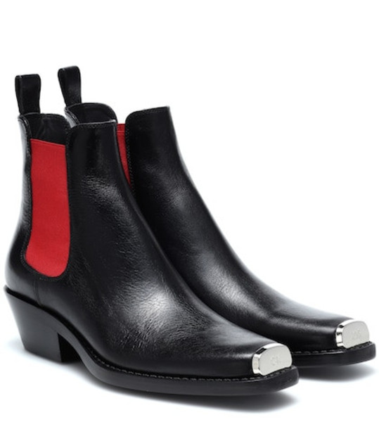 Calvin Klein 205W39NYC Western Claire leather ankle boots in black