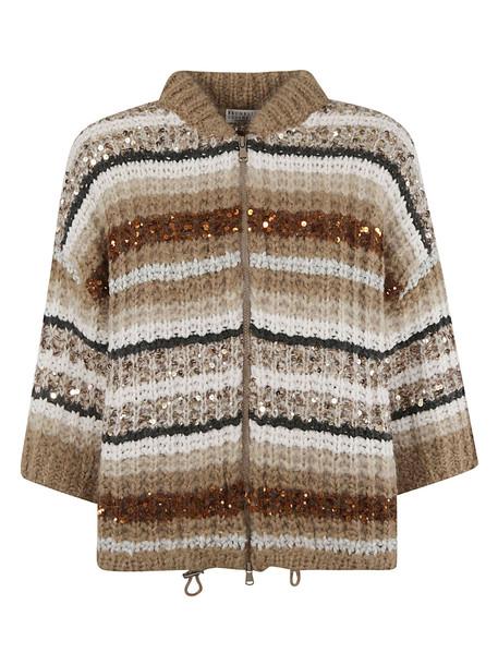 0d5055e3d2 Brunello Cucinelli Sequin Cable Knit Cardigan