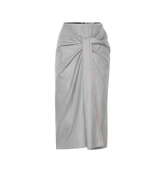 Roland Mouret Aura stretch-crêpe pencil skirt in blue