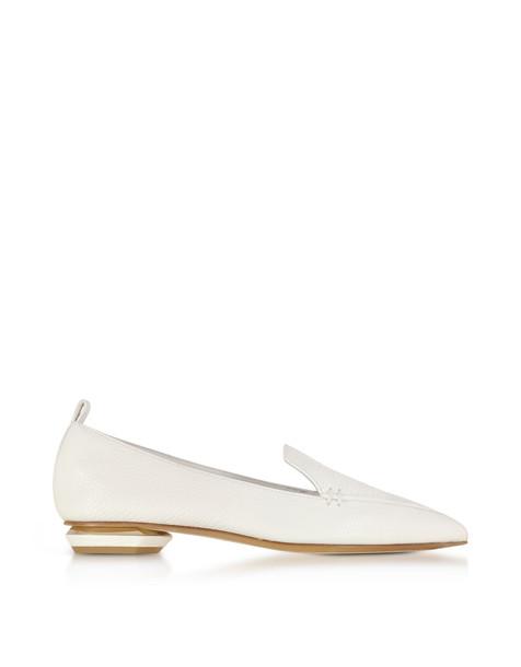 Nicholas Kirkwood Beya White Leather Loafer