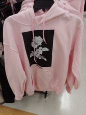 sweater,pastel pink,sweatshirt,rose