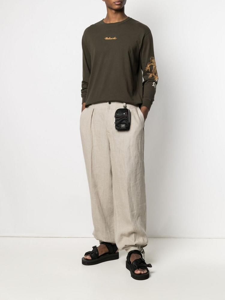 Porter-Yoshida & Co. Porter-Yoshida & Co. logo patch pouch - Black