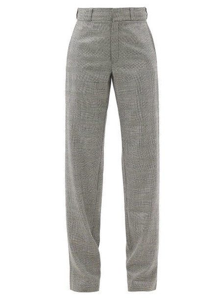 Vetements - Prince-of-wales-checked Wool-blend Trousers - Womens - Black White