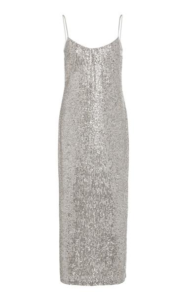 Galvan Sequined Tulle Midi Dress Size: 36
