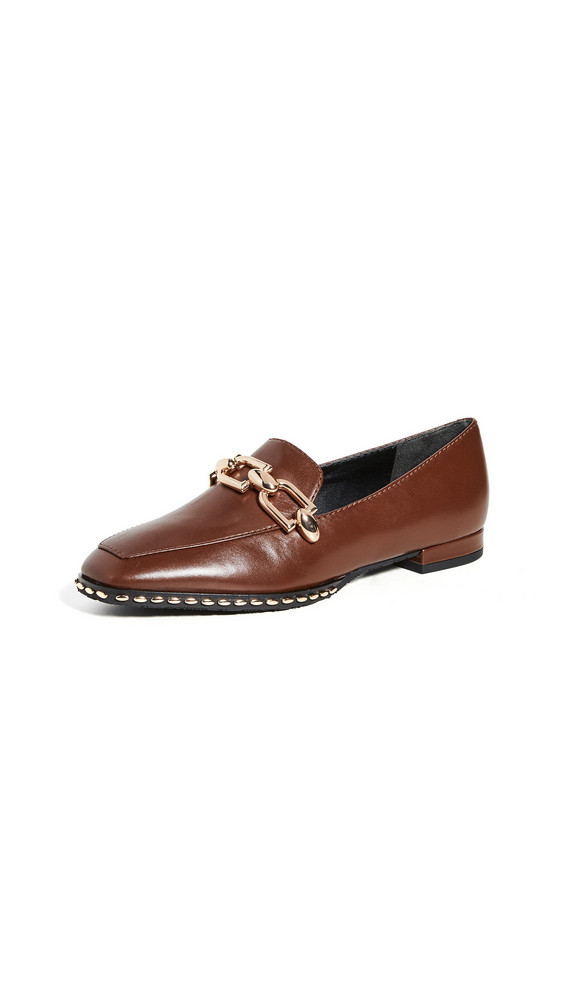 Stella Luna Lenny With Studding Loafers in brown