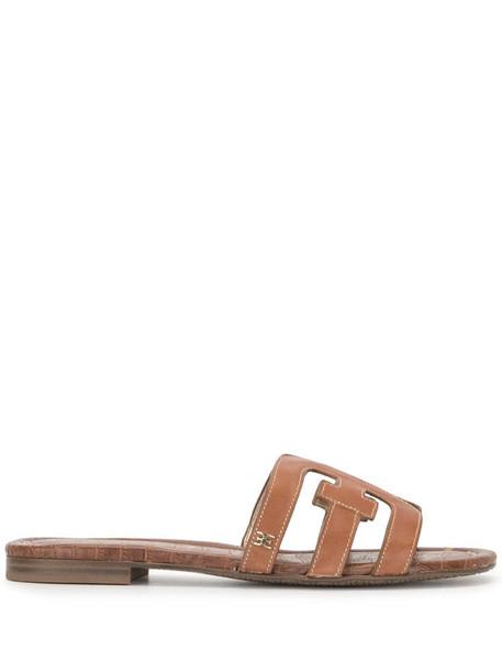 Sam Edelman logo cut-out sandals in brown