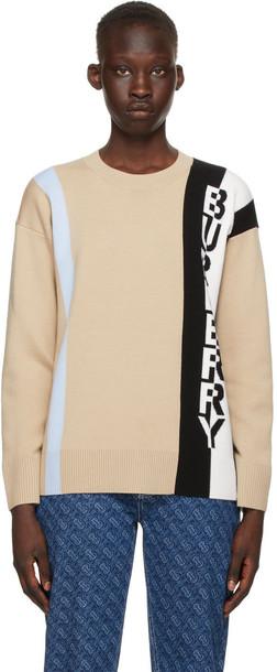 Burberry Beige Wool Kadey Sweater