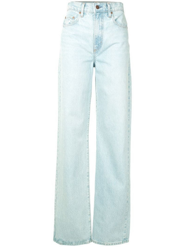 Nobody Denim high rise Lou straight jeans in blue