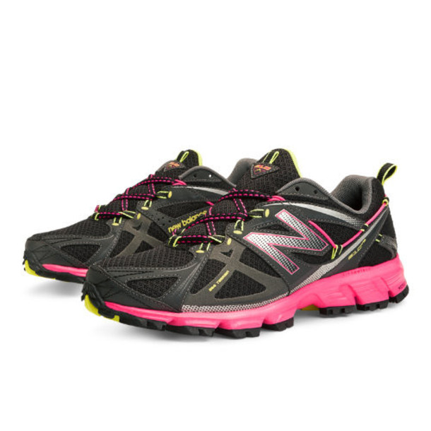 New Balance 610v3 Women's Running Shoes - Black, Pink Glo, Neon Yellow (WT610BP3)