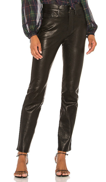 FRAME Le Sylvie Leather Pant in Black