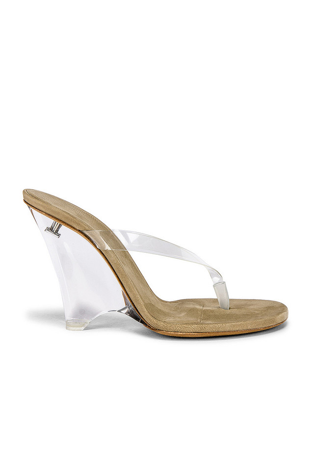 YEEZY SEASON 8 PVC Wedge Thong Sandal in tan