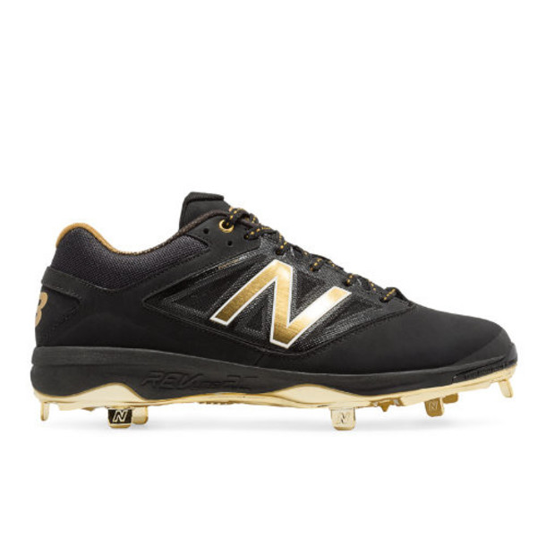 New Balance Low-Cut Bold and Gold Hero 4040v3 Metal Cleat Men's Low-Cut Cleats Shoes - Black/Gold (L4040BG3)