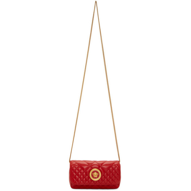 Versace Red Mini Quilted Icon Bag