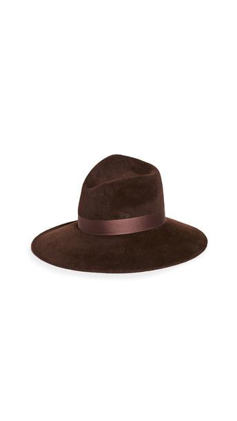 Gigi Burris Drake Hat in chocolate