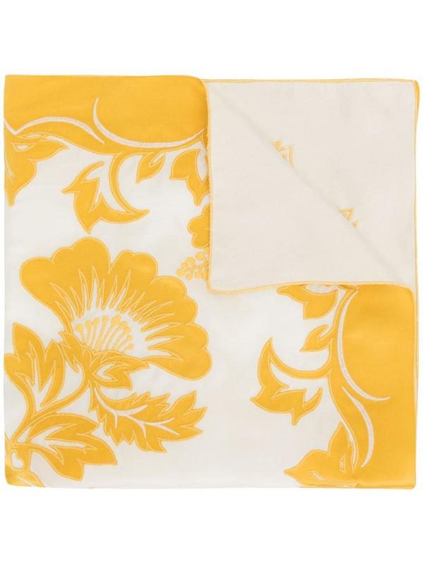 Tory Burch Vintage Hawaiian-print silk scarf in yellow