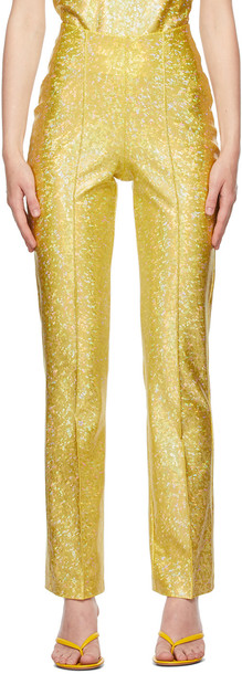 Saks Potts Yellow Shimmer Lissi Trousers