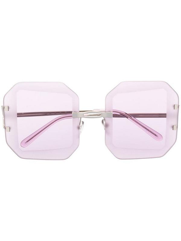 Marni Eyewear oversized square-frame sunglasses in silver