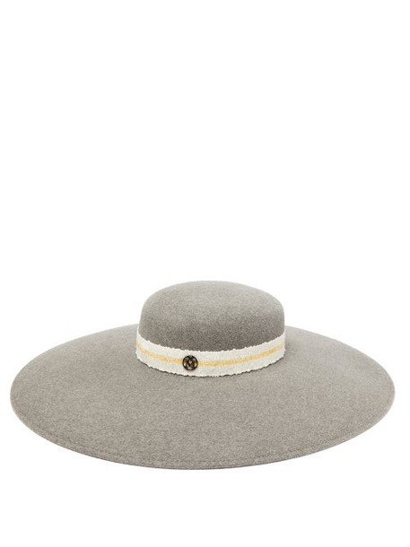 Maison Michel - Bianca Wide-brim Felt Hat - Womens - Grey