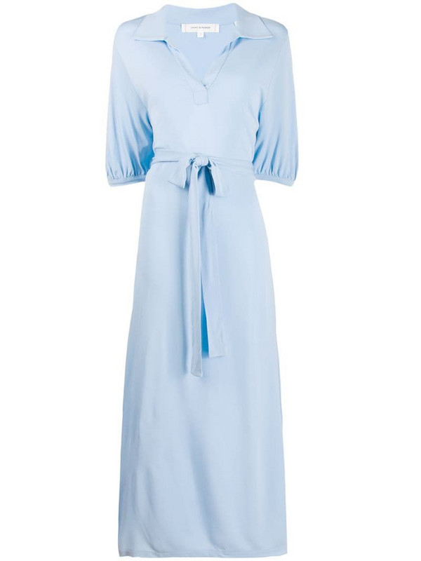 Chinti and Parker polo collar dress in blue