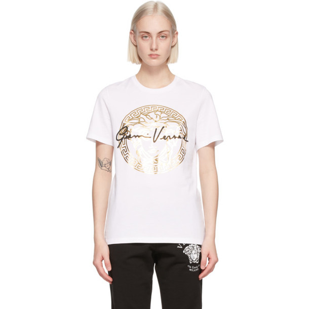 Versace SSENSE Exclusive White GV Signature Medusa T-Shirt