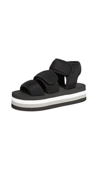 Jeffrey Campbell Shaka Hi Sandals in black