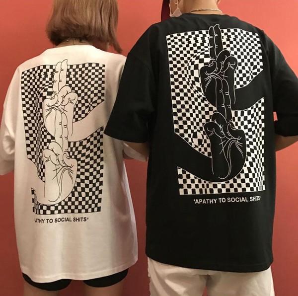 blouse tumblr black white t-shirt printed t-shirt black and white