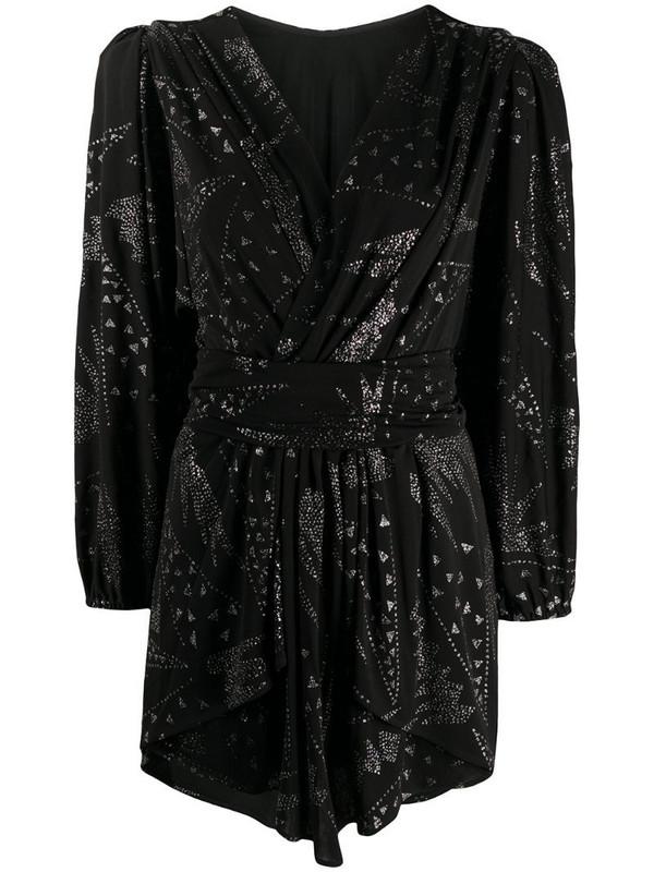 Isabel Marant metallic-detail mini dress in black