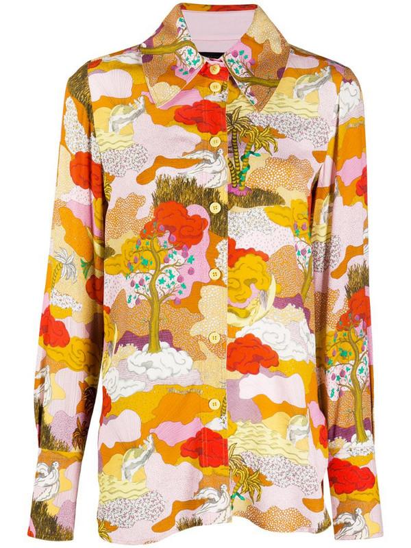 Stine Goya Dreamscape shirt in orange